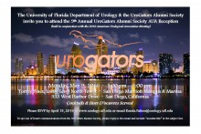 2016 AUA UROGATORS SAVE THE DATE WITH RSVP INFO