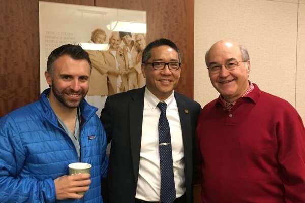 color photo of doctors Brandon Otto, Li-Ming Su and Robert Newman
