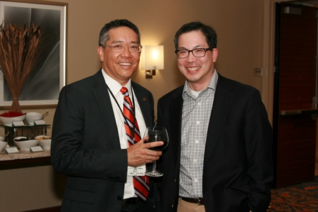 color photo of doctors Li-Ming Su and M. Louis Moy
