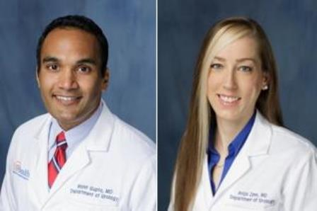 head shots of doctors Mohit Gupta and Anja M. Zann