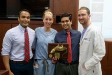 color photo of doctors Mohit Gupta, Anja M. Zann, Joseph R. Grajo and Aaron F. Brafman