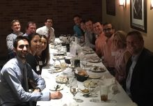 picture of dr schlegel and uf urology residents at dinner