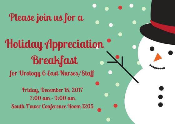 pictures of holiday appreciation breakfast for 6 east