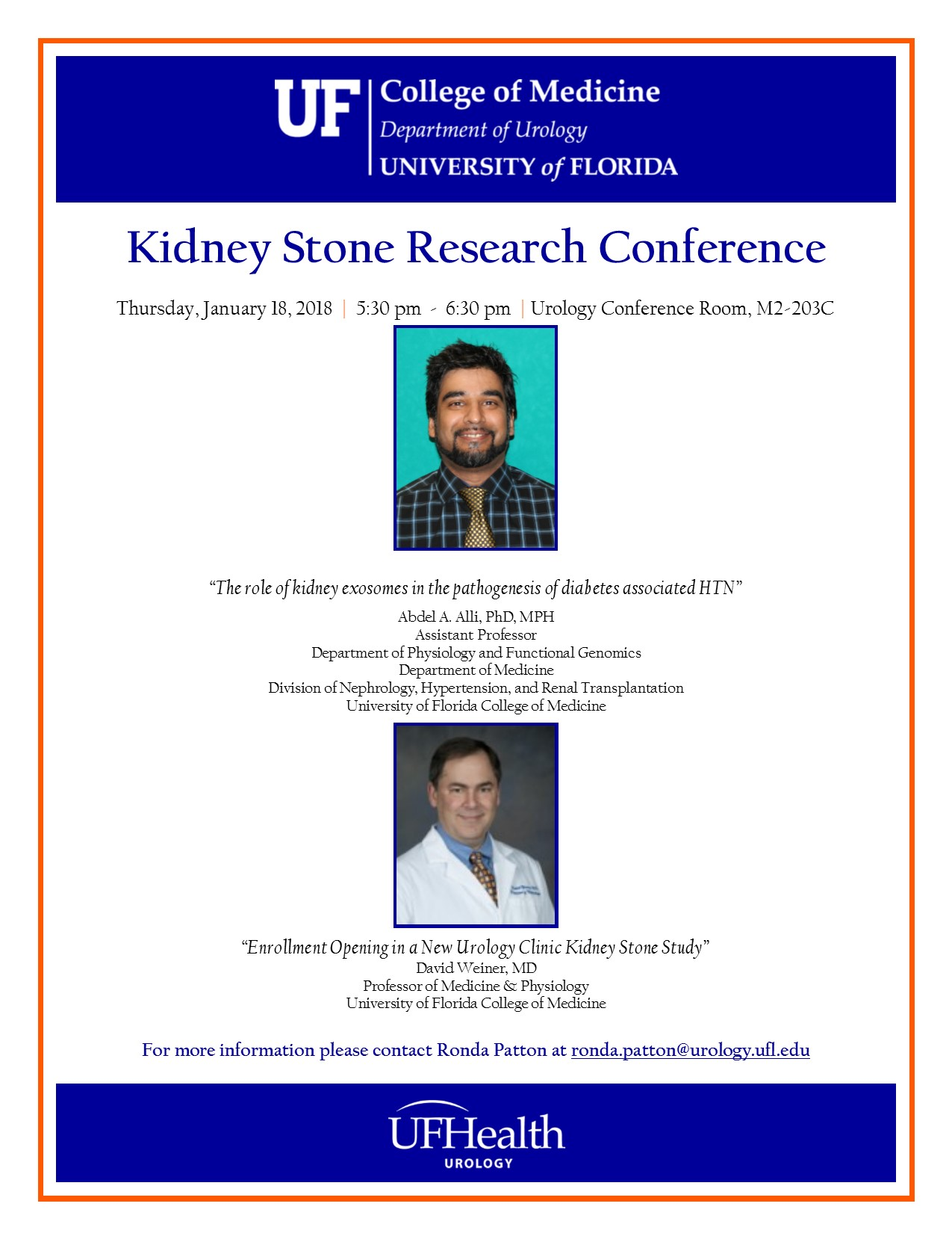 flyer for kidney conference