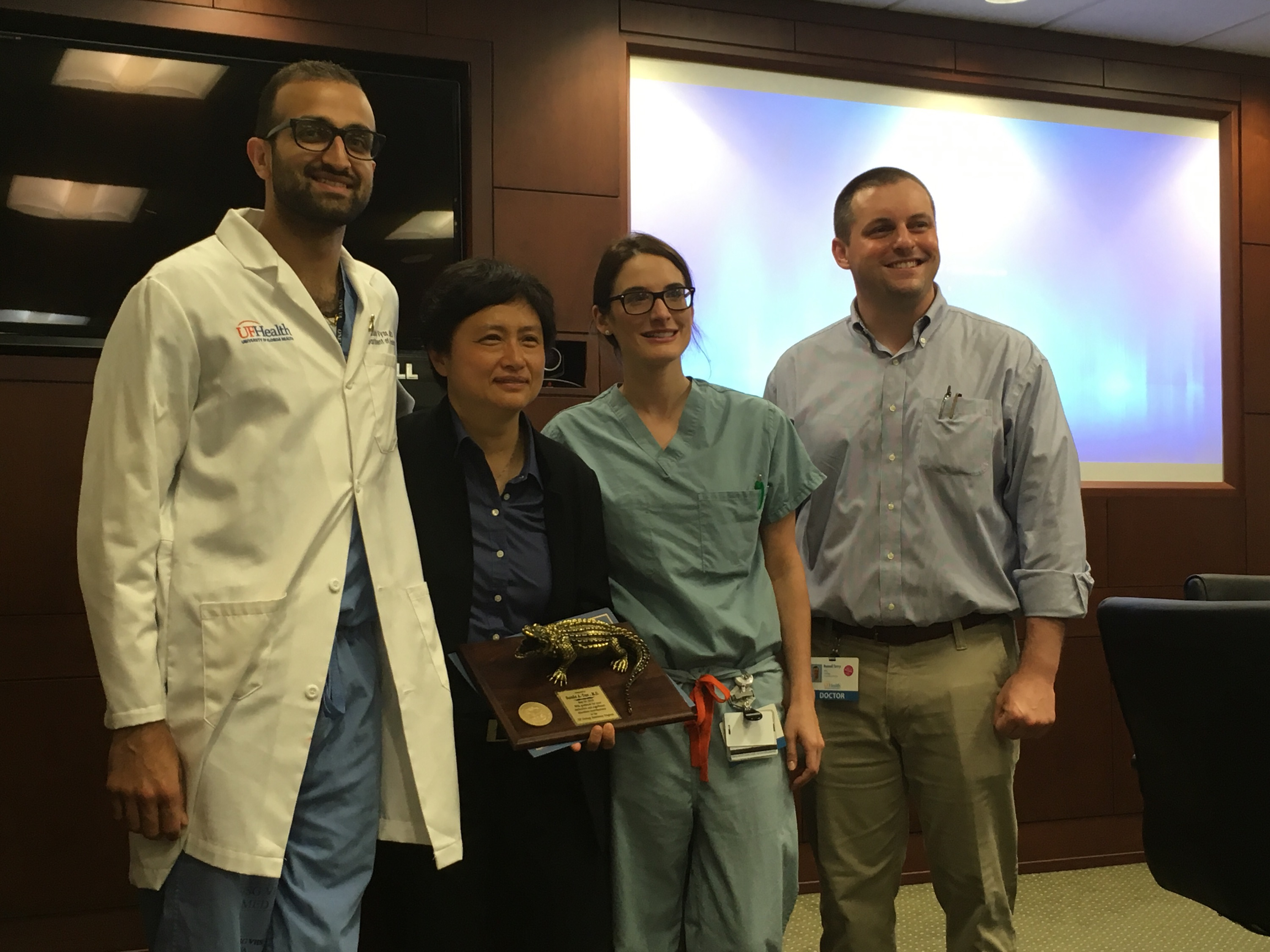 PICTURE OF DR TAN, DR VYAS, DR WARDENBURG AND DR TERRY