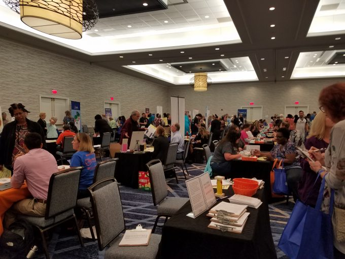 crowd at UF Health Expo