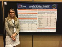 PICTURE OF DR. JULIE STORZ AT THE AUA