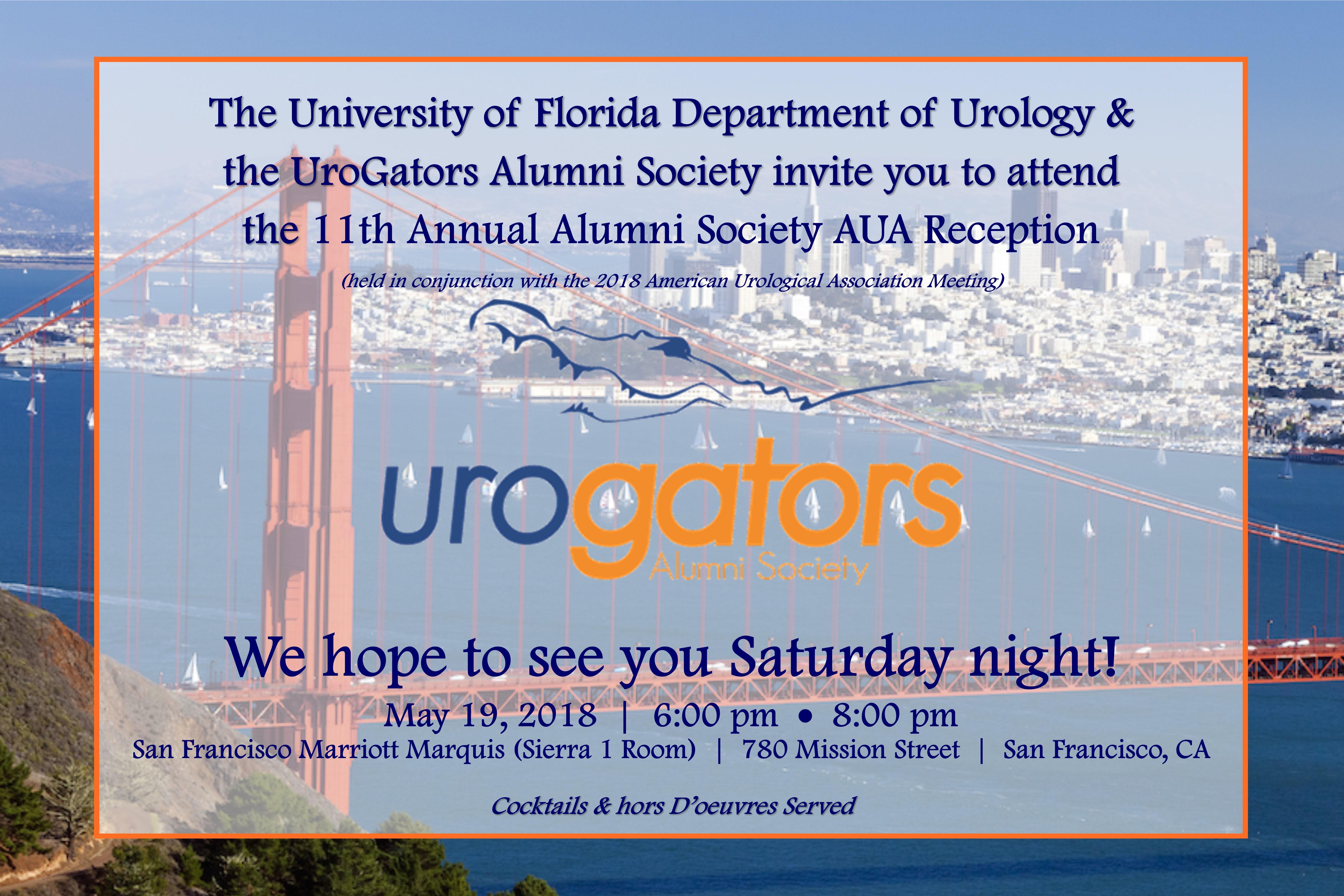 welcome invite to the 11th annual uf/urogators alumni reception