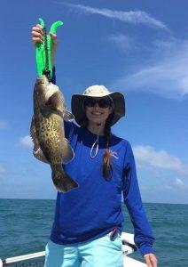 dr. wardenburg holind a big fish