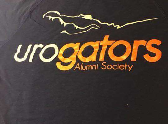 back of shirt everyone is wearing with the urogators logo