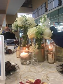 decoration/flowers at the resident graduation banquet