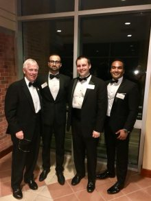 drs stringer, vyas, terry and gupta at the resident graduation banquet