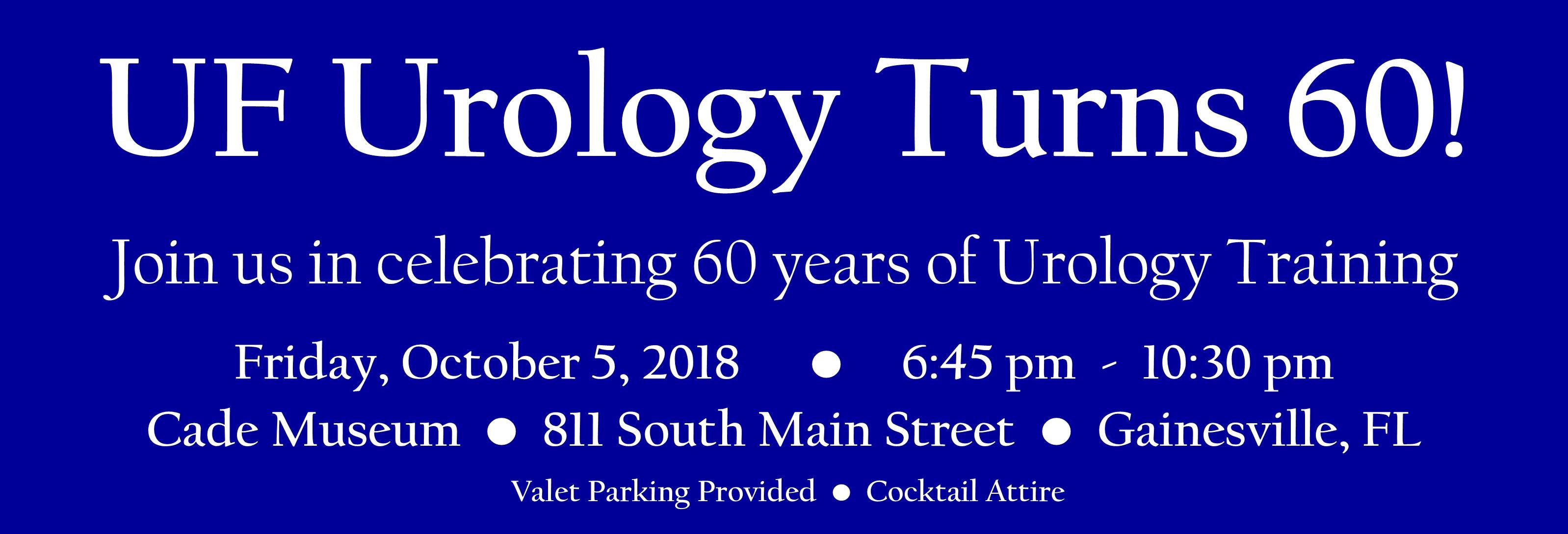UF Urology Turns 60!