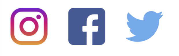 instagram, facebook and twitter logo