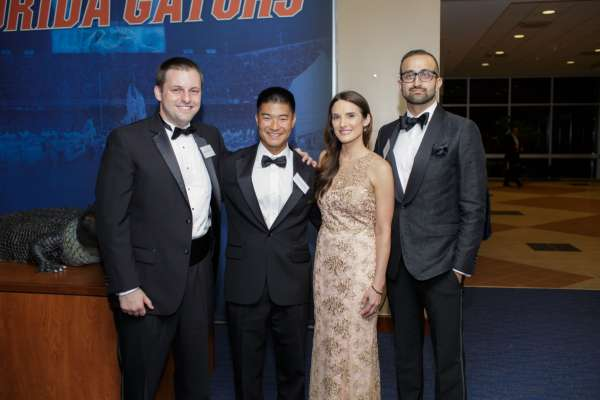 Dr. Terry, Dr. Yeung, Dr. Wardenburg and Dr, Vyas at the resident Graduation Banquet