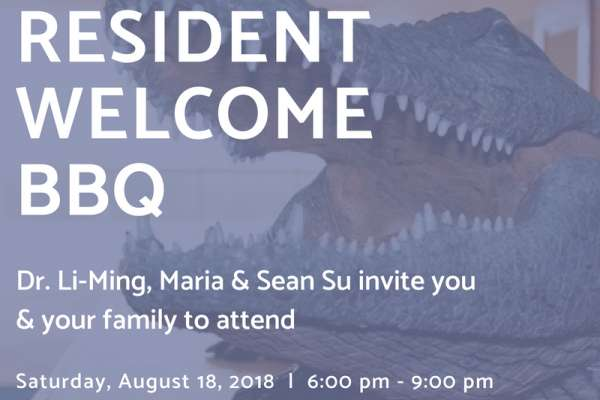 invitation for the 2018 welcome resident welcome bbq