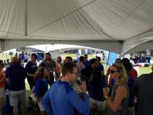 UroGators Alumni at tailgate