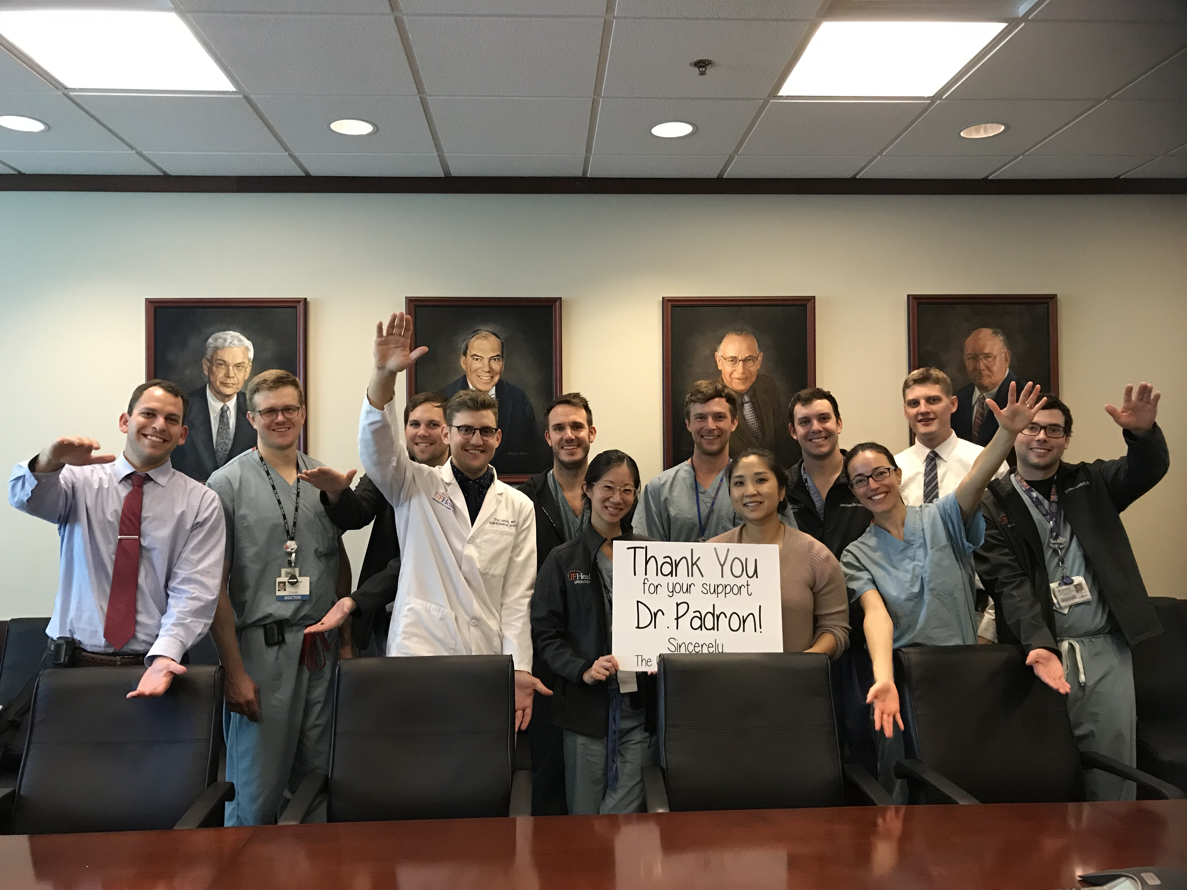 Our Residents say THANK YOU! » Department of Urology