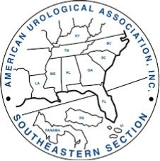 sesaua logo which is a round circle showing outlines of Puerto Rico, Panama and the states of LA, MS, AL, GA, FL, SC, NC, KY and VA.