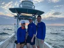 Drs. Noennig, Han & Pavlinec on Dr. Su's boat.