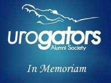 IN MEMORIAM WITH UROGATORS ALUMNI SOCIETY LOGO