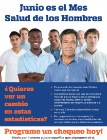 picture of mens health month poster