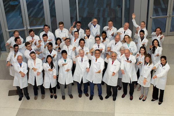 group photo of uf urology team