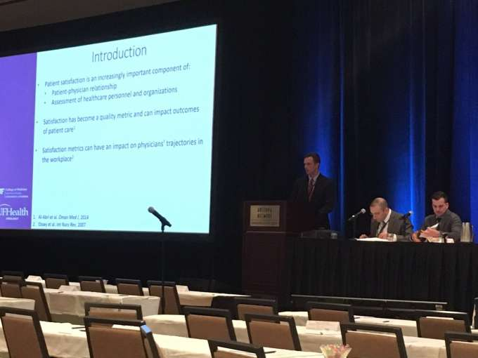 Dr. Andrew Rabley presenting at the sesaua
