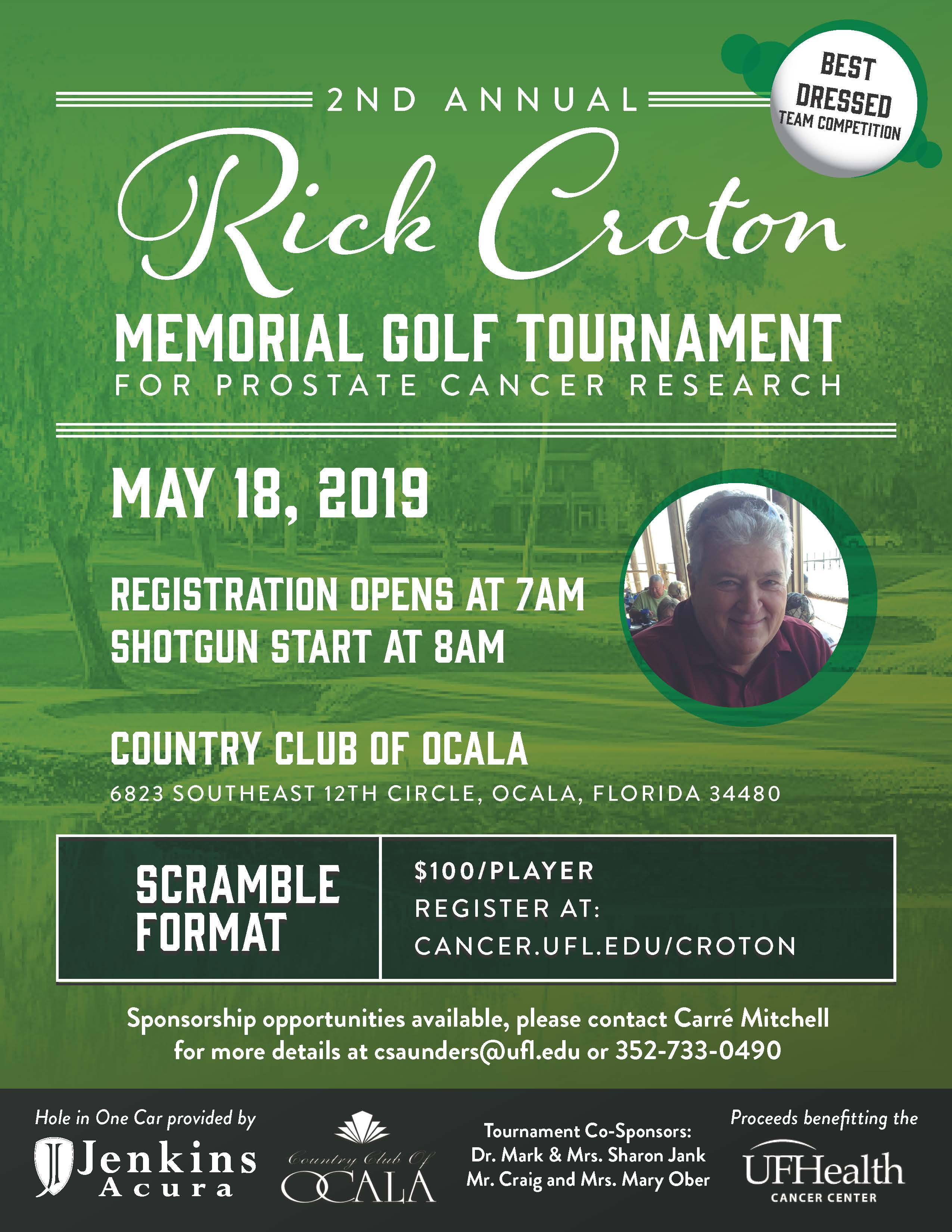 2nd Annual Rick Croton Memorial Golf Tournament | Saturday, 5/18/19