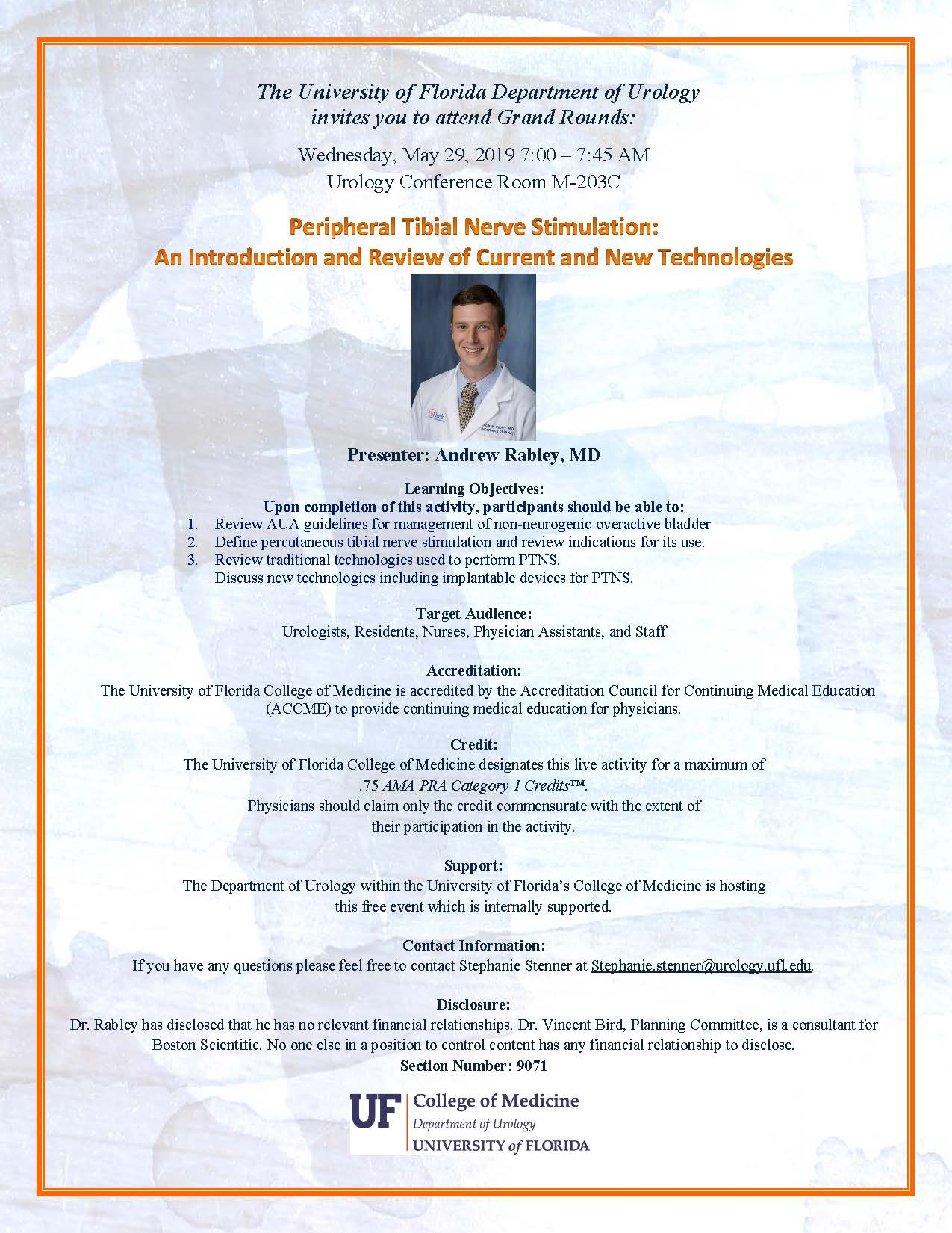 picture of grand rounds flyer for dr rabley