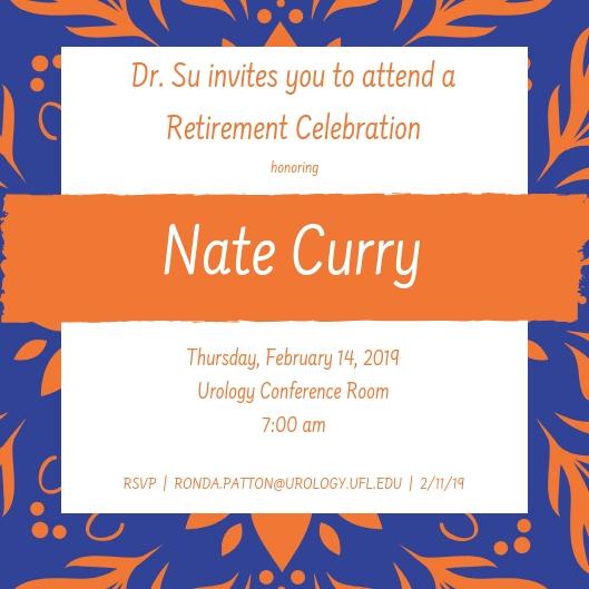 picture of nate curry retirement celebration invite