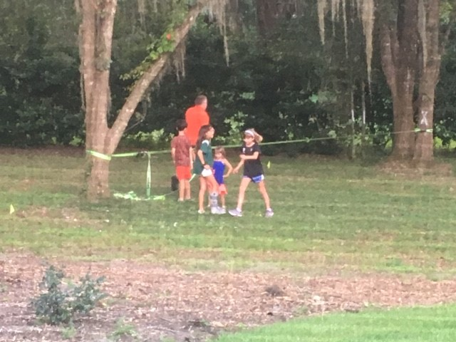dr crrispen with kids outside