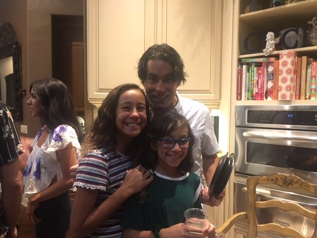 dr canales and his daughters, leila and shireen