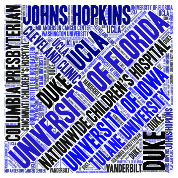 word collage of fellowships alumni residents have been accepted to.