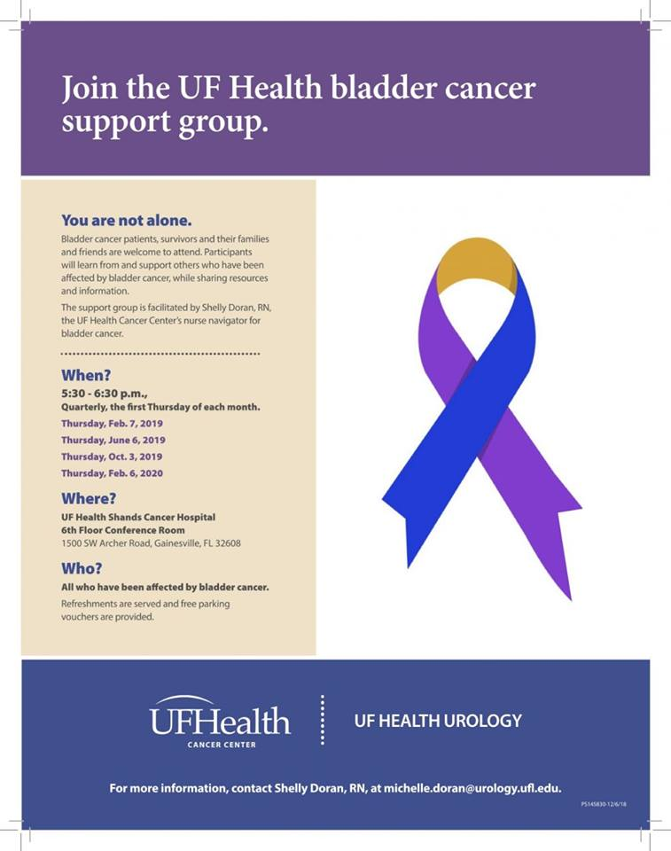 bladder cancer support group flyer
